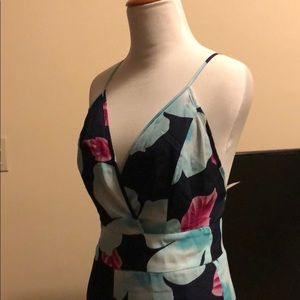 NWT sheer jumpsuit with back ties
